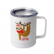 10oz White Stainless Coffee Cup