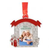 Metal Holiday Mantel Ornament