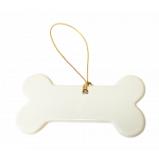 Porcelain Dog Bone Ornament
