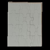 "5-1/4"" x 6-3/4"" Rectangle Cardboard Jigsaw Puzzle (12 Pieces)"