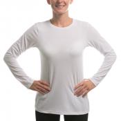 Vapor Ladies White Long Sleeve Slim Tee