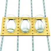 Rack Star Fixture for Stemless Wine Glass