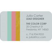 "Unisub Gloss White 2"" x 3-1/2"" 2-Sided Aluminum Business Card"