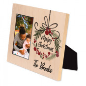 """Unisub Chromaluxe Maple 8"""" x 10"""" Natural Wood Offset Picture Frame for 4"""" x 6"""" Photo"""