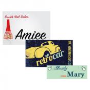 Unisub Gloss White Aluminum Name Badge (Square Corners)