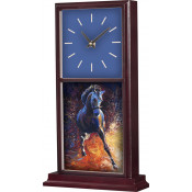 "Unisub Mahogany 15-1/4"" x 8-1/2"" Mantle Clock"