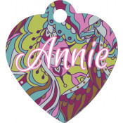 Unisub White Heart Pet Tag