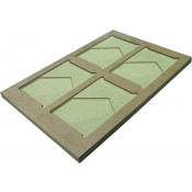 """Unisub 13"""" x 19"""" Jig for (4) UN5857 ChromaLuxe 5"""" x 7"""" Easels"""