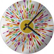 """Unisub Silver 8-1/8"""" Round Aluminum Clock Kit"""