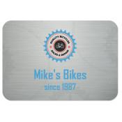 """Unisub Brushed Silver Aluminum Name Badge - 2"""" x 3"""""""