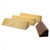 Solid Wood Desk Holder With Beveled Edges