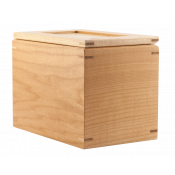 """Natural Maple 4-3/4"""" x 7"""" Recipe Box"""