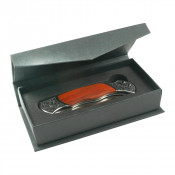 Black Knife Box with Folding Top