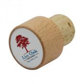 "Wooden 1.1"" Round Wine Bottle Stopper"