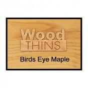 Birds Eye Maple Wood Thins (5 Pack)
