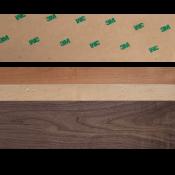 """Sauers & Co 2"""" x 25' Adhesive Backed Wood Veneer Edge Banding"""