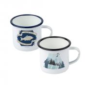 12oz Colored Edge Camp-Style Enamel Mug