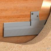 "MBS Aluminum 36"" Hanging Bar for Z-Clip (Light to Medium Duty)"
