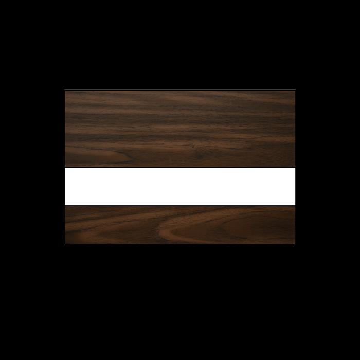 Rowmark Mattes Black Walnut White 1/16