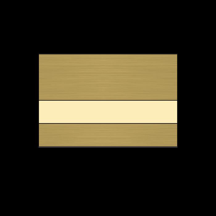 Rowmark Metals Brushed Bronze/Ivory 1/16