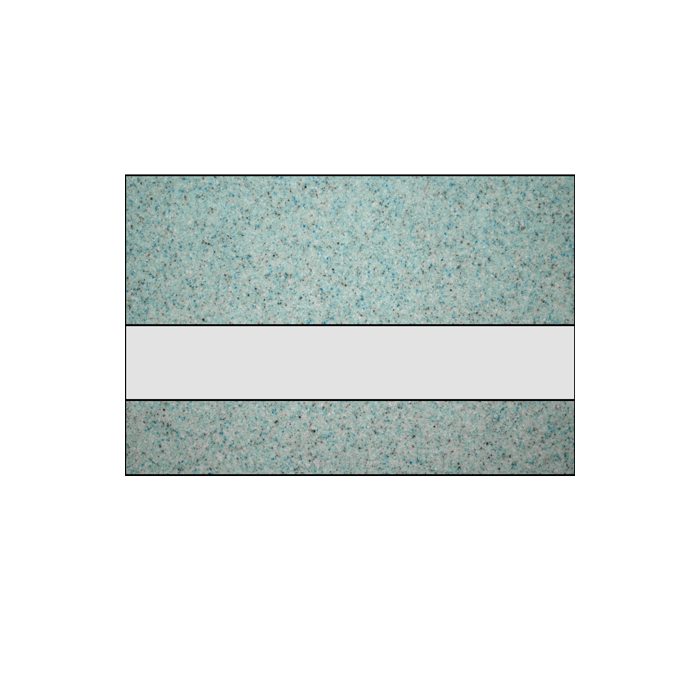 Rowmark Granites Deluxe Matte Clear/Glacial Blue 1/8