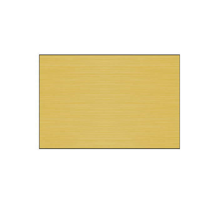 Satin Gold Long Grain .020 Brass Sheet