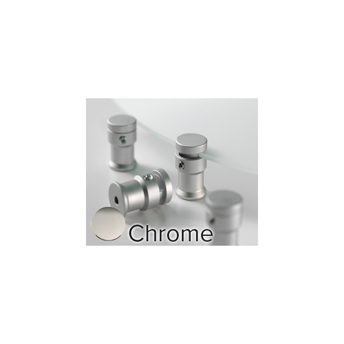 CHROME D.75 L1.0 MOUNTS 4/PKG DIMENSIONAL EDGE GRIPPERS CLEARPATH STAND-OFFS