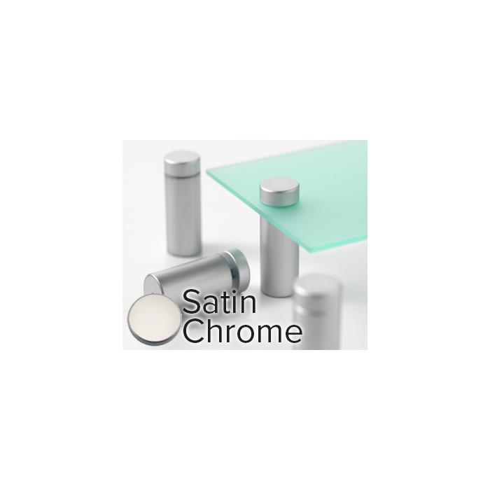 Rowmark Metro Satin Chrome Stand-Offs (.98