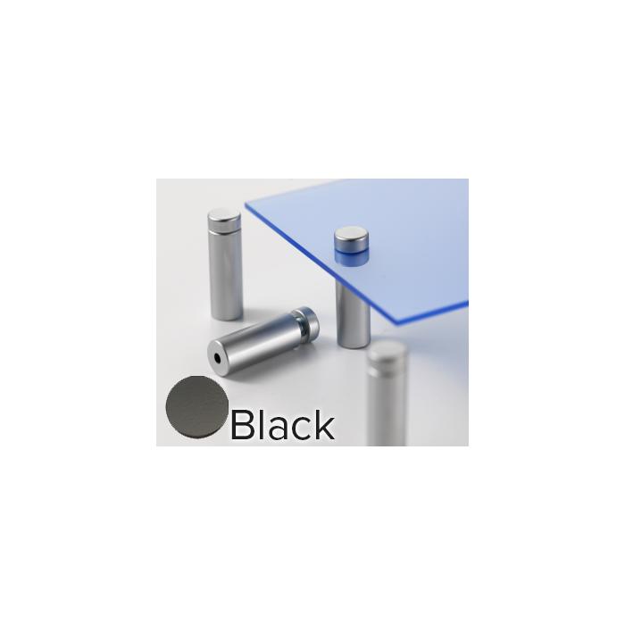 Rowmark Metro Matte Black Stand-Offs (.59