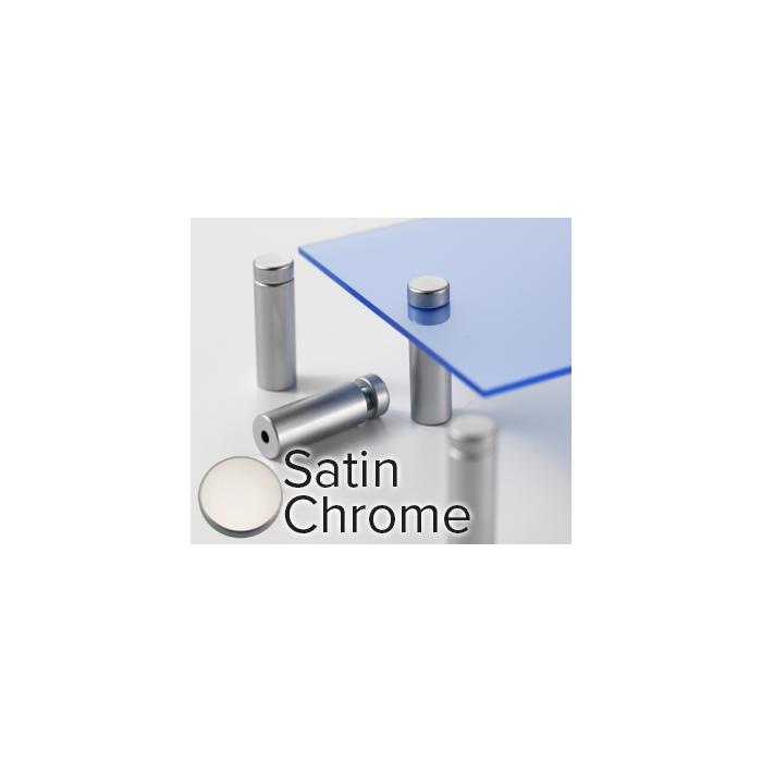 Rowmark Metro Satin Chrome Stand-Offs (.59