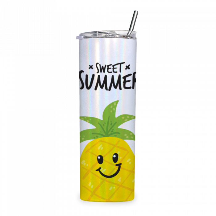 20oz Shimmer Stainless Steel Tumbler with Straw & Lid