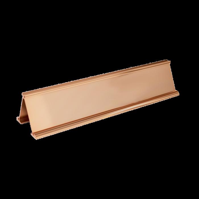 JRS33 BRIGHT ROSE GOLD ALUM 2X10X1/16 & 2X10X1/16 INSERTS MULTI DESK HOLDER