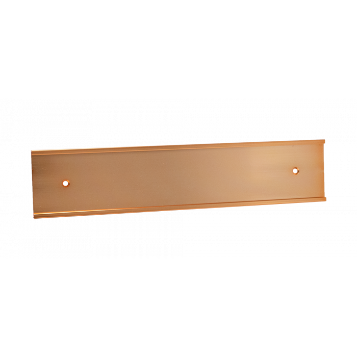 JRS94 BRIGHT ROSE GOLD ALUM 2X10X1/8 INSERT, HOLES WALL HOLDER