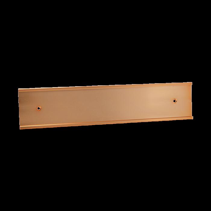 JRS37 BRIGHT ROSE GOLD ALUM 3X12X1/16 INSERT, HOLES WALL HOLDER