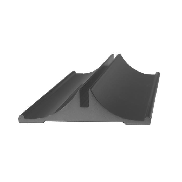 JRS39 MATTE BLACK ALUM 1-1/4X8, 3/32 INSERT MAX SIGN HEIGHT 6, DESK BASE