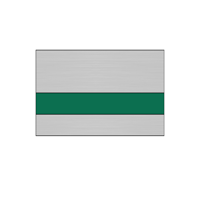 IPI Elites Brushed Silver/Nile Green 1/16