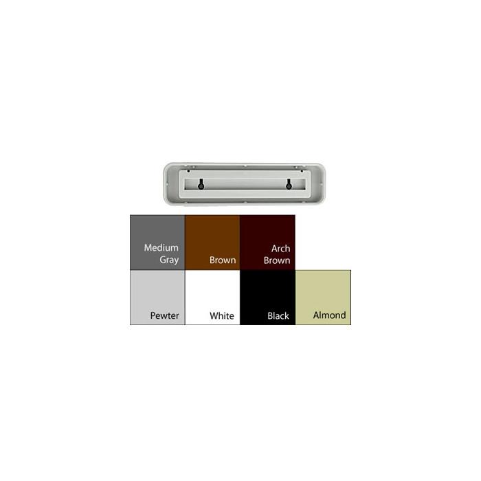 JRS9128 MEDIUM GRAY PLASTIC 1-7/8X7-7/8 INSERT 3/8 RADIUS DESIGNER FRAME