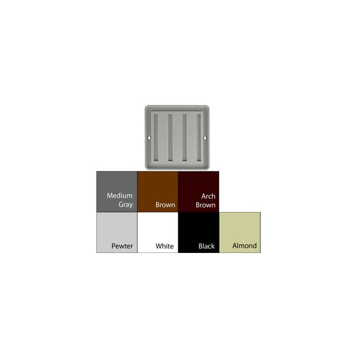 JRS9188 ALMOND PLASTIC 7-7/8X7-7/8 INSERT 3/8 RADIUS DESIGNER FRAME