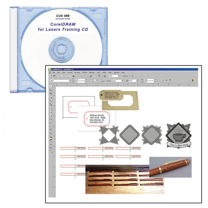 LaserBits CorelDRAW Training for Lasers CD