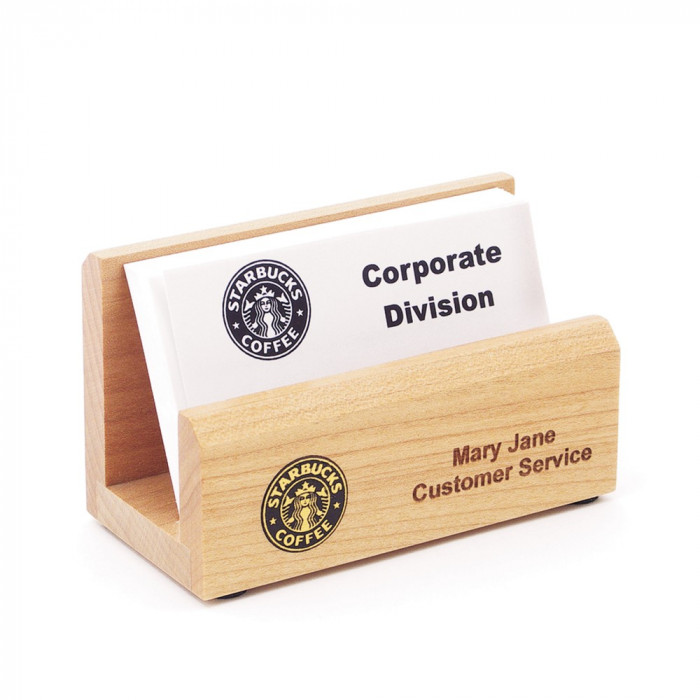 Maple Business Card Holder