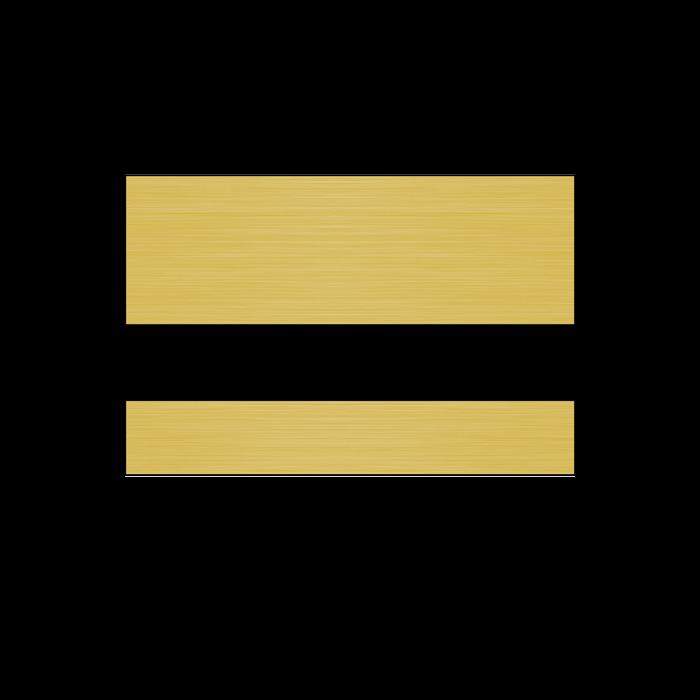 Rowmark LaserMag Brushed Gold/Black Magnetic Sheet