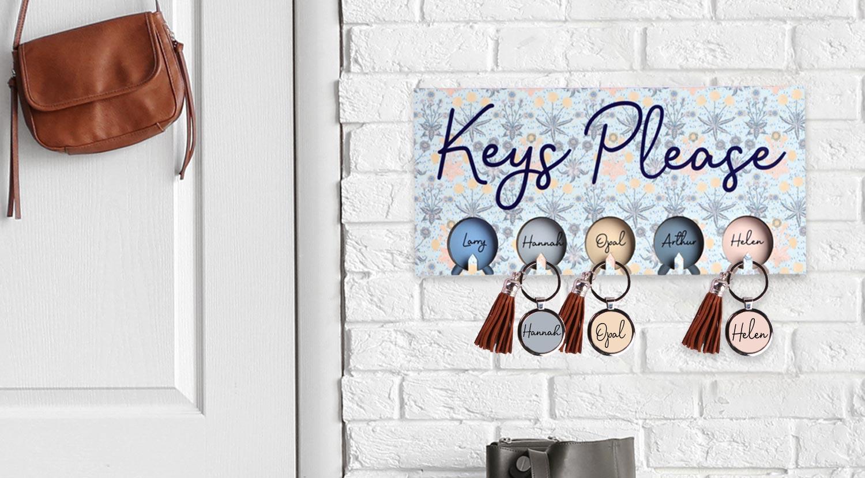 Sublimation Hardboard Key Holder Lifestyle