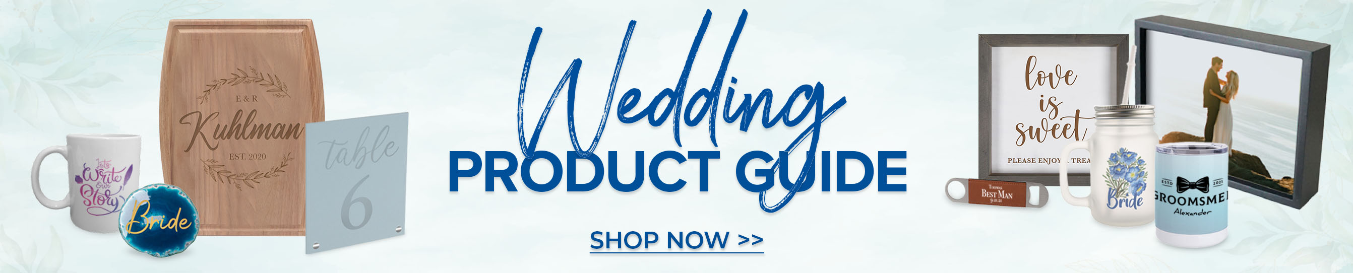Wedding Product Guide Shop Now